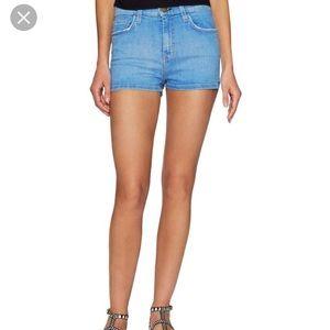 Current Elliot High Waist Denim Shorts